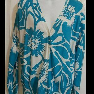 St John Bay Button-Down Cardigan Large NWT Beauty